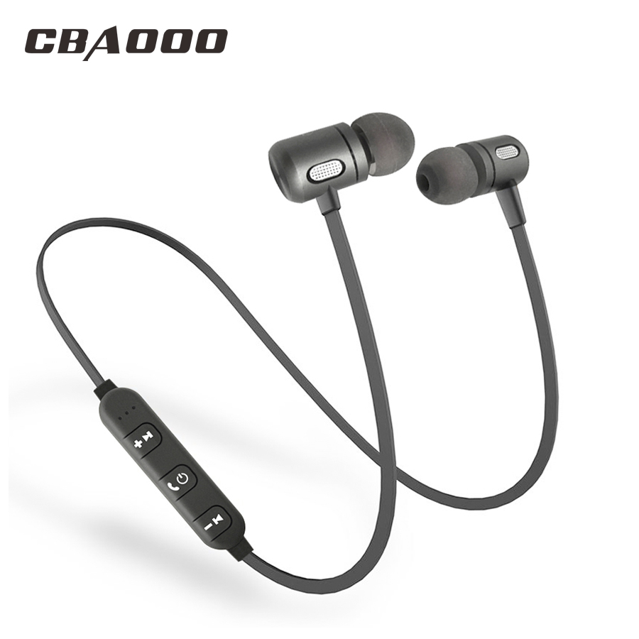 CBAOOO 2pcs/lot Wireless Headphones Bluetooth Earphone Headset Blutooth Earpiece Bass Sport Earbuds Handsfree With MIC for phone hongbiao sm stereo bass earphone headphones metal handsfree headset 3 5mm earbuds with micphone for all mobile phone mp3 player