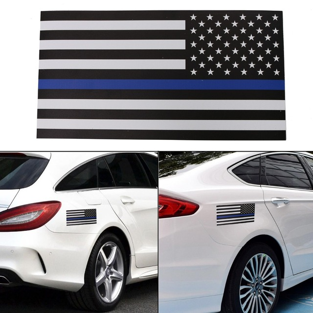 X Magnetic Car US USA Flag Sticker Decals Wall Stickers Blue - Magnetic car decals