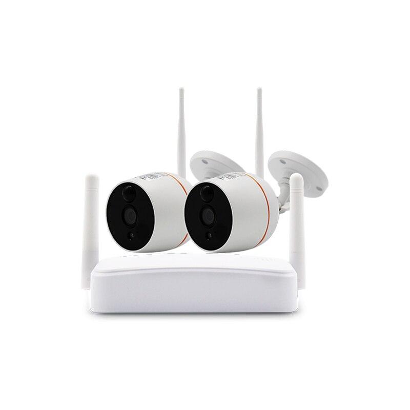 SmartYIBA 4CH WIFI MINI NVR Network Camera IP66 Waterproof Surveillance Kits 1080P HD WIFI IP Camera