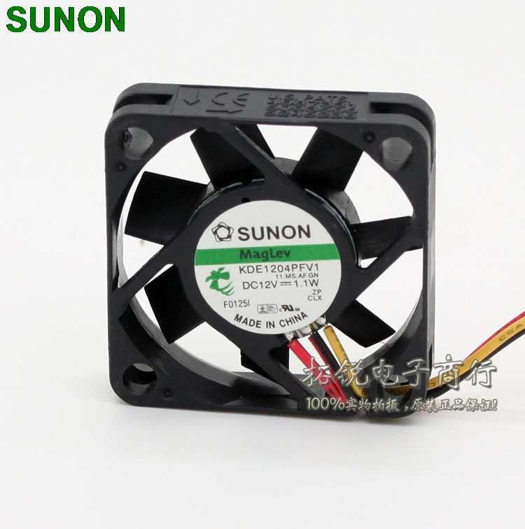 Sunon maglev cooling fans KDE1204PFV1 4010 40mm DC 12V 1.1W 3 wire fan switch maitech dc 12 v 0 1a cooling fan red silver