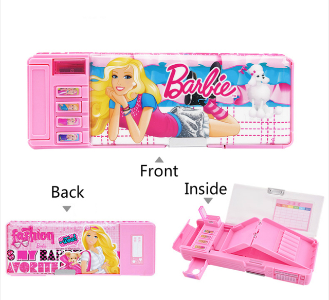 Multifunction Pencil Case with Pencil Sharpener Calendar For Girls Cute Plastic Students Pencil Box Escolar Papelaria Chancery