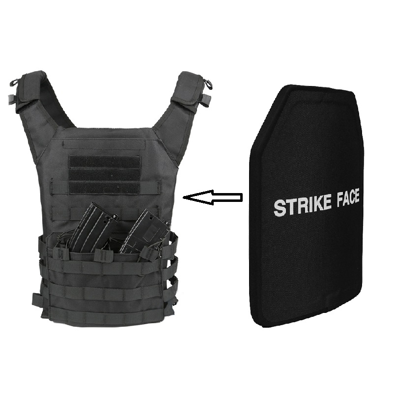 1pc STA Shooter Cut NIJ III Level Bulletproof Plate Anti-ballistic Ceramic Plate For JPC Tactical Vest