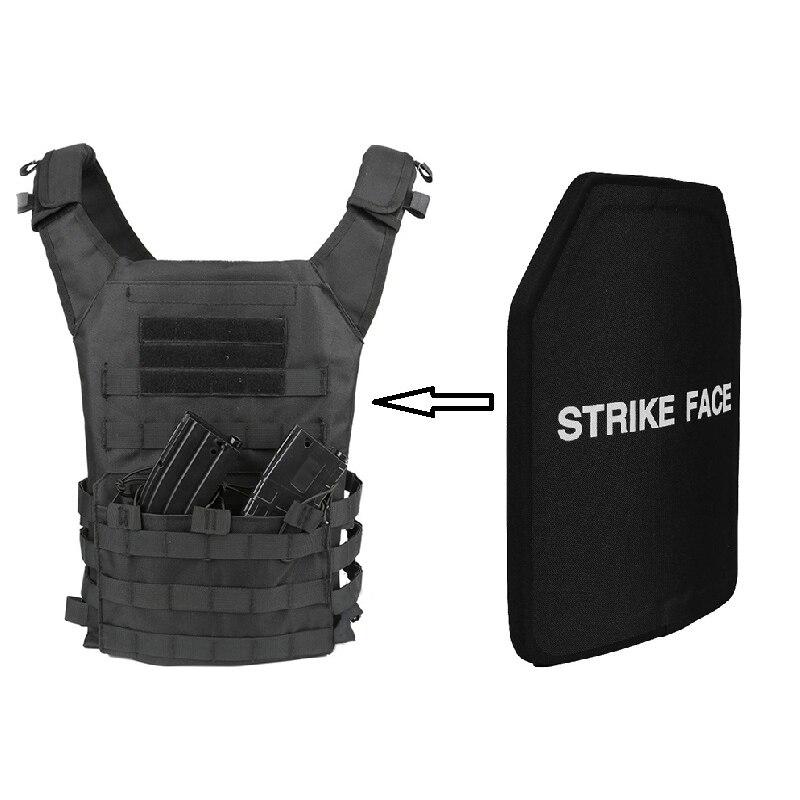 1pc STA Shooter Cut NIJ III Level Bulletproof Plate Anti-ballistic Ceramic Plate For JPC Tactical Vest