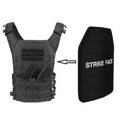 STA Shooter Cut NIJ III Level Bulletproof Plate Anti-ballistic Ceramic Plate For JPC Tactical Vest