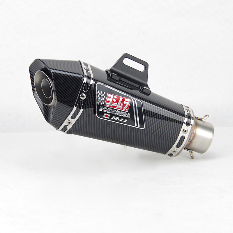51mm Inlet Universal Motorcycle Yoshimura Exhaust Muffler For FZ1 R6 R15 R3 ZX6R ZX10 Z900 1000 CBR1000 GSXR1000 650 K7 K8 K11(China)