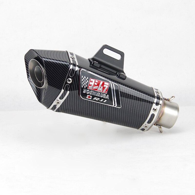 51mm entrada universal motocicleta yoshimura silenciador do escape para fz1 r6 r15 r3 zx6r zx10 z900 1000 cbr1000 gsxr1000 650 k7 k8 k11