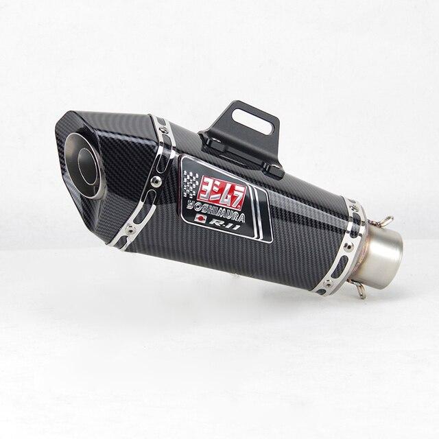 51mm inlet Universal motorcycle yoshimura exhaust muffler for FZ1 R6 R15 R3 ZX6R ZX10 Z900 1000 CBR1000 GSXR1000 650 K7 K8 K11