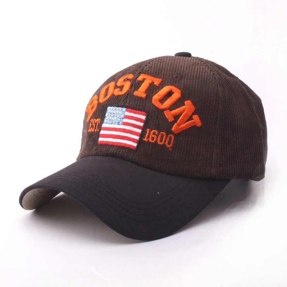 6a73bfbd9e9 New Arrival Flag Baseball Caps BOSTON Fashion Embroidery Hat Curved Brim  Sport Ball Hat High Quality Snapback Hat Cotton Caps-in Baseball Caps from  Apparel ...