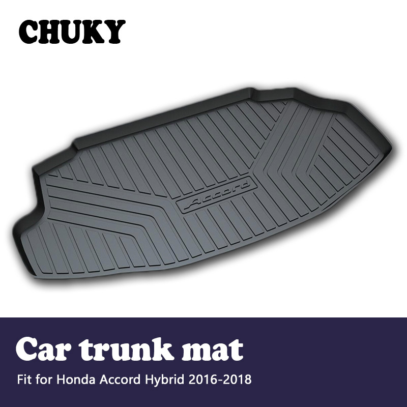 CHUKY For <font><b>Honda</b></font> <font><b>Accord</b></font> Hybrid <font><b>2016</b></font> 2017 2018Car Cargo rear trunk mat Boot Liner Tray Waterproof carpet Anti-slip mat <font><b>Accessories</b></font> image
