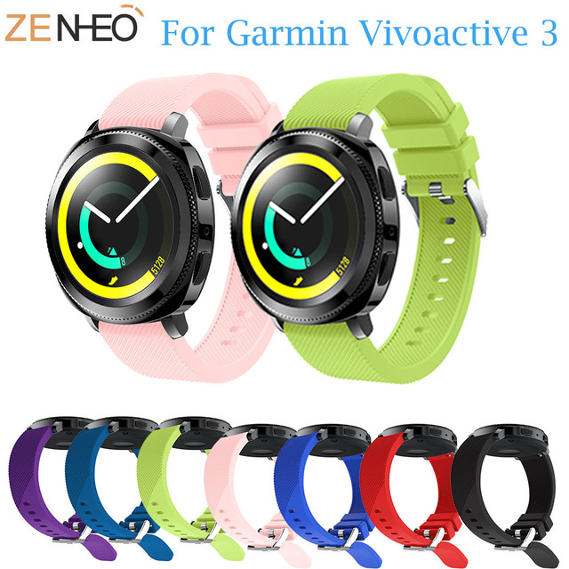 20 MM רצועת השעון עבור Amazift ביפ רצועת עבור Garmin Vivoactive 3/645 סיליקון גומי להקת יד רצועת עבור Samsung הילוך S2 ספורט