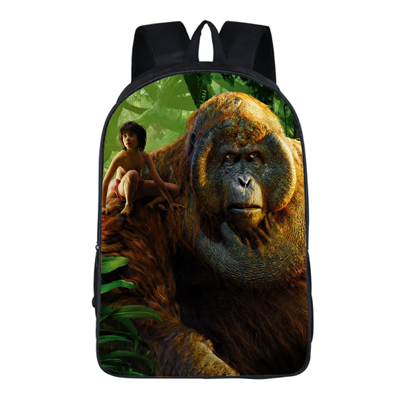 16 Inch Anime The Jungle Book Backpack For Teenagers Boys Girls School Bags Travel Bag Children School Backpacks Gift