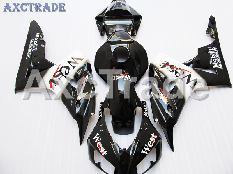 Motorcycle Fairings For Honda CBR1000RR CBR1000 CBR 1000 2006 2007 06 07 ABS Plastic Injection Fairing Bodywork Kit WEST Black T injection mold fairing for honda cbr1000rr cbr 1000 rr 2006 2007 cbr 1000rr 06 07 motorcycle fairings kit bodywork black paint