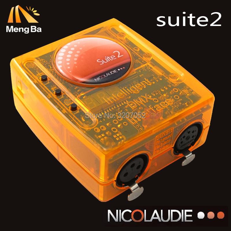 Sunlite Suite 2 Primera Clase USB DMX interfaz etapa iluminación software 1536 canal Sunlite Dmx FC controlador bueno para dj satge