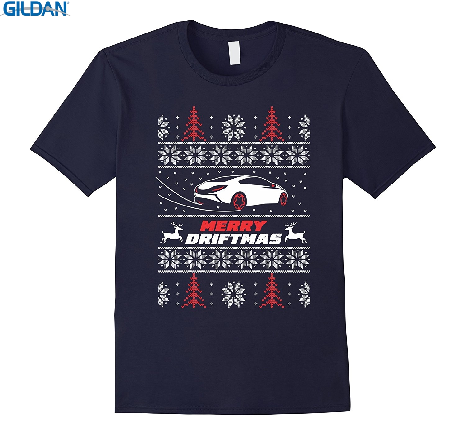 GILDAN 100% Cotton O-neck custom printed T-shirt Ugly Car S13 Sweater Christmas Shirt Merry Driftmas ...