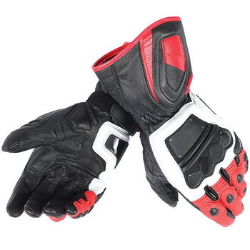 Motorcycle Leather Gloves Dain 4 Stroke Long Gloves for Motorbike Off-Road Racing Biker