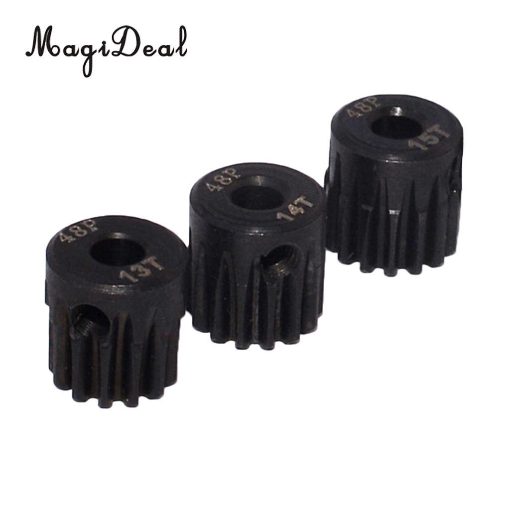 все цены на MagiDeal 48DP 13T-15T Pinion 3.175mm Motor Gear Set for 1/10 RC Model Car DIY Accessories 13T 14T 15T