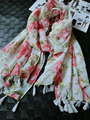 ladies scarves 2015,Rose flower scarf,floral hijab,Muslim hijab,tassel scarf,ponchos and capes,shawls and scarves,desigual,wrap