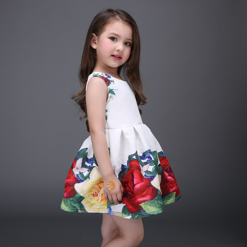 220a16e13251 undefeated x fd3ce 286de rose floral printed baby girls dresses 2017 ...