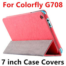 Case For Colorfly G708 3G Protective Smart cover Protector Leather Tablet PC For Colorful G708 3G PU Sleeve 8 inch Cases Covers