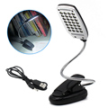 USB and Battery Powered 28LEDs Desk Light Reading Lamp with Headboard Clamp 3 Brightness Levels PC and Mac Compatible CL