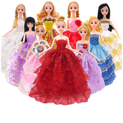 Toy Doll Clothes  Evening Party  ClothingBaby princess skirt dress skirt naked baby doll dress clothes wholesale