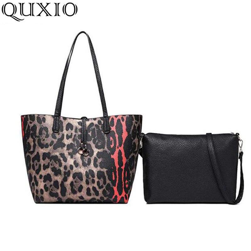 KüHn 2019 Neue Frauen Tasche 2 Stücke Anzug Handtasche Einfache Große-kapazität Handtasche Europäischen Und Amerikanischen Mode Leopard Drucken Handtasche Cz312 Gepäck & Taschen