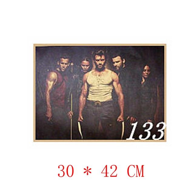 Free shipping,NO.133,X Men Wolverine/classic move film/kraft paper ...
