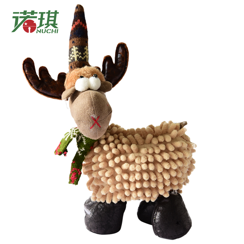 NUCHI New 1pcs Elk Plush Deer New Year Christmas Decorations Christmas Ornaments for Home Christmas Gift