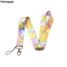 Homegaga World Map key id strap movie neck lanyards keys glasses holder bead keychain phones cameras webbing ribbon D2075