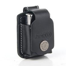 Free Shipping Genuine Leather Lighter Pouch Holder Case with Metal Belt Clip for Kerosene Oil Lighter цена в Москве и Питере