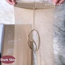 Meia-calça jeans feminina, lingerie feminina cintura alta com glitter transparente virilha aberta 0821