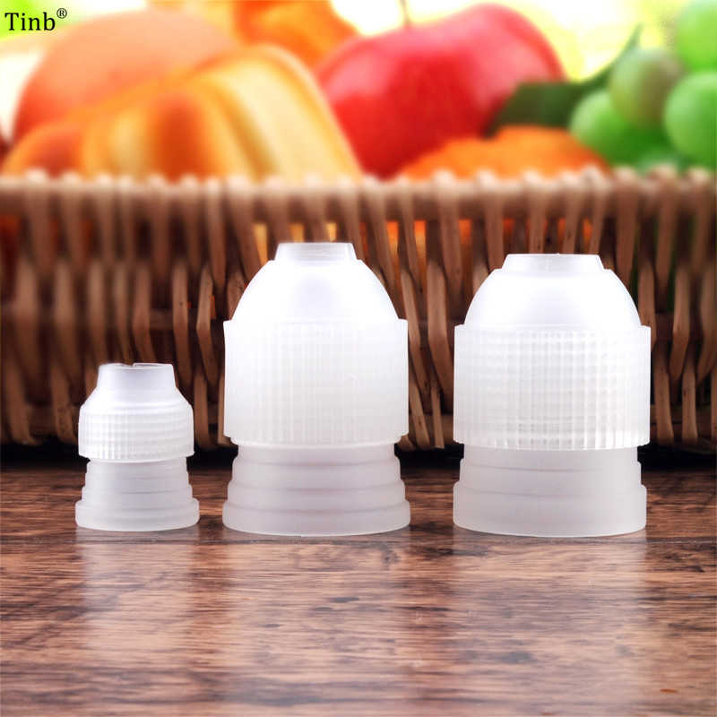 3 pcs S/M/L Plastic Icing piping bag converter adapter set cream nozzle pipeline coupler cake decorating tool for Russian Nozzle