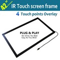 "4 touches, 42"" IR Multi touch frame 16:9 format for multi touch table, advertising, Free shipping"
