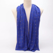 Стиль плед хиджаб шифон shimmer алмазный шарф точные pearl Шарфы