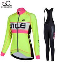 ALE Women 2016 Quick Dry Breathable High Quality Long Sleeve Jersey Cycling Clothing Ciclismo MTB Road
