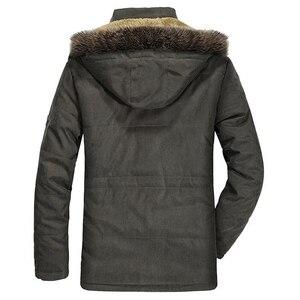 Image 2 - Mens New Fashion Winter Jacket Men Thick Casual Outwear Jackets Mens Fur Collar Windproof Parkas Plus Size 6XL Velvet Warm Coat