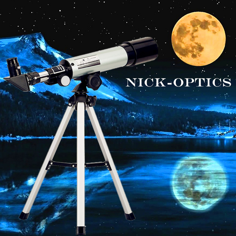 Astronomical Telescope Science Monocular 360/50mm for kids stargazing education gift with free tripod for Space Moon watching kid s gift entry level astronomical telescope with tripod for children