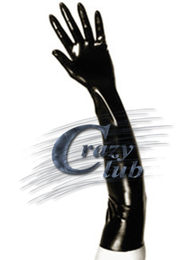 New Arrival Black Latex Zentai Gloves Elbow Length Clubwear Rubber Long Sleeves Gloves Latex Gummi Latex Fetish Free Shipping