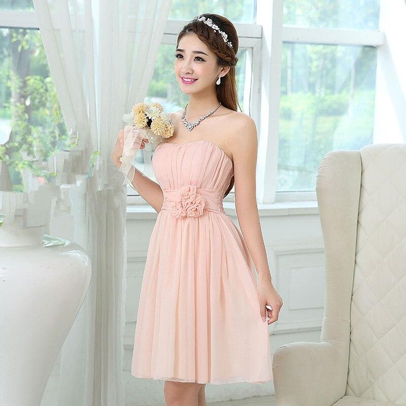 Online Get Cheap Light Pink Strapless Short Dress -Aliexpress.com ...