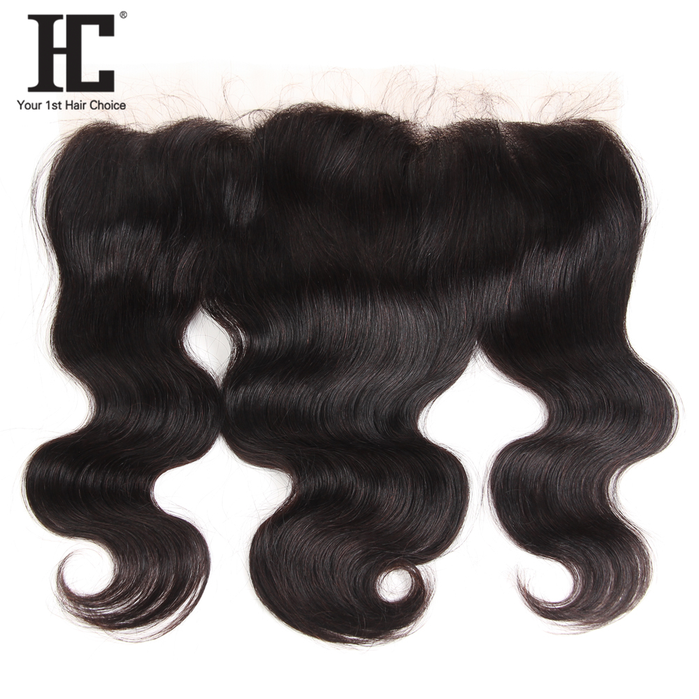 HC Pre Plucked Ear to Ear 13x4 Lace Frontal Closure With Baby Hair 8-20 inch Peruvian Body Wave Remy Human Hair Free Part