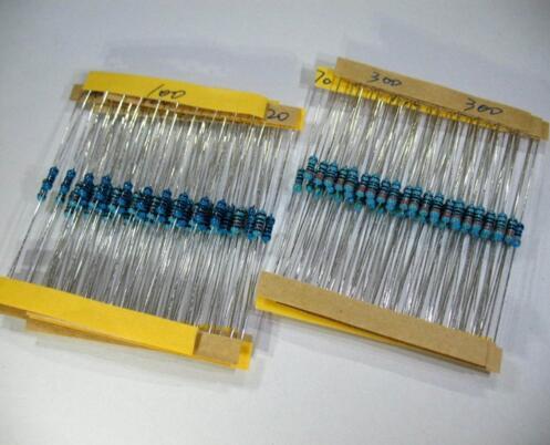 1000pcs/lot 1/4W 0.25W Metal Film Resistor 1% 1.8K/2.2K/3.3K/4.7K/5.1K/6.8K 1K8 2K2 3K3 4K7 5K1 6K8 ohm