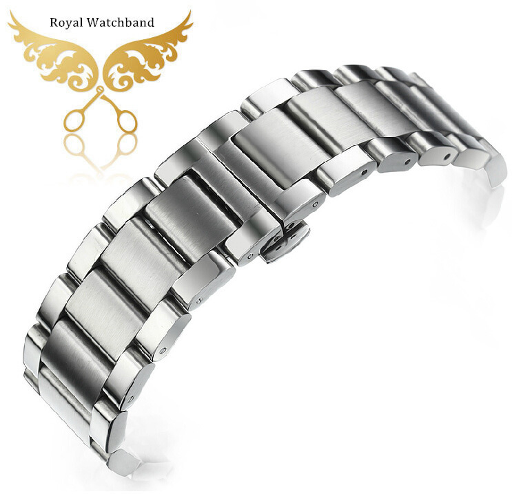 ФОТО New Authentic stainless steel strap Watch Band and Buckle 22mm butterfly clasp Free Shipping