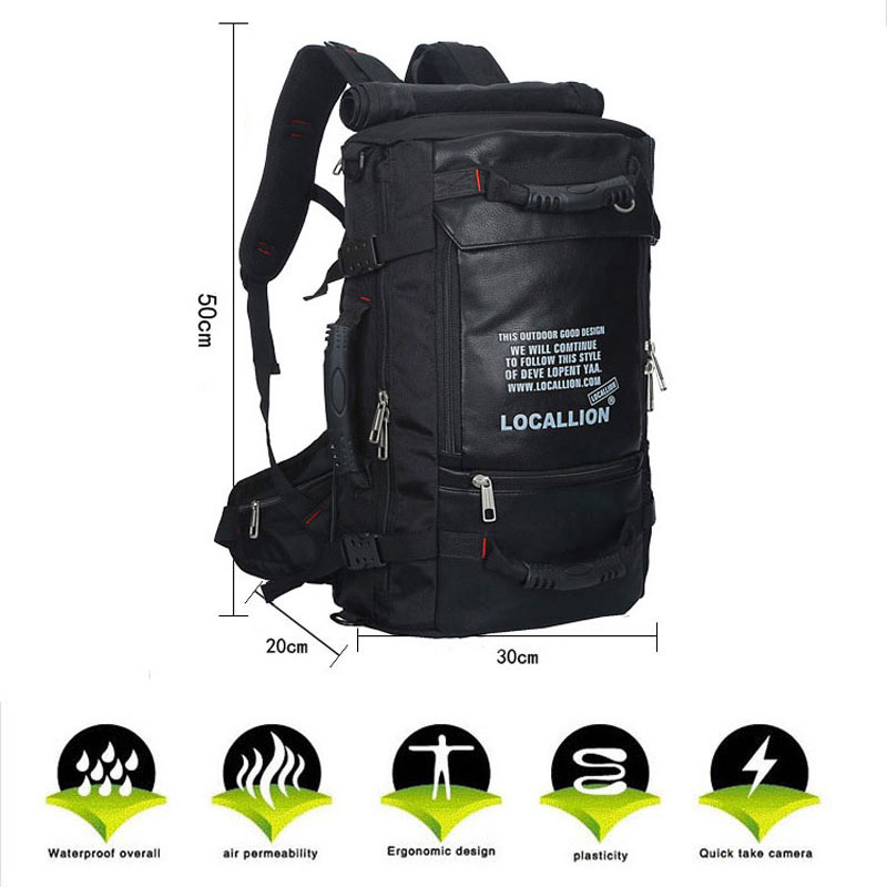 45L Multifunction Climbing Cycling Backpacks Professional Brand Sports Mountaineering Bag Rucksack Water-proof Travel Bag 12l cycling road backpack bike mountaineering rucksack water proof nylon running outdoor ultralight travel water bag helmet bag
