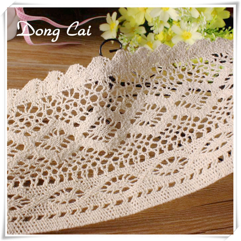 DIY  5 Yards Cotton wave lace gift wrap Trims clothing curtain lace accessories