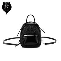FULANPERS Small Glitter Backpacks Women 2018 Designer Black Ladies Back Pack High Quality Teenage Girls Fashion Mini Backpack