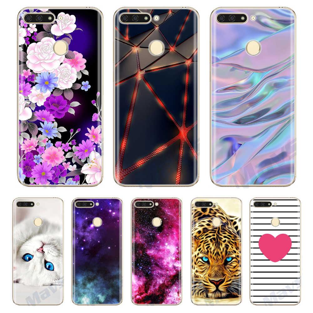 Soft Case Huawei Honor 7A Pro Case Luxury Huawei Honor 7A 5.45 Silicone Cover For Huawei Honor 7 A Pro TPU Phone Cases Cover