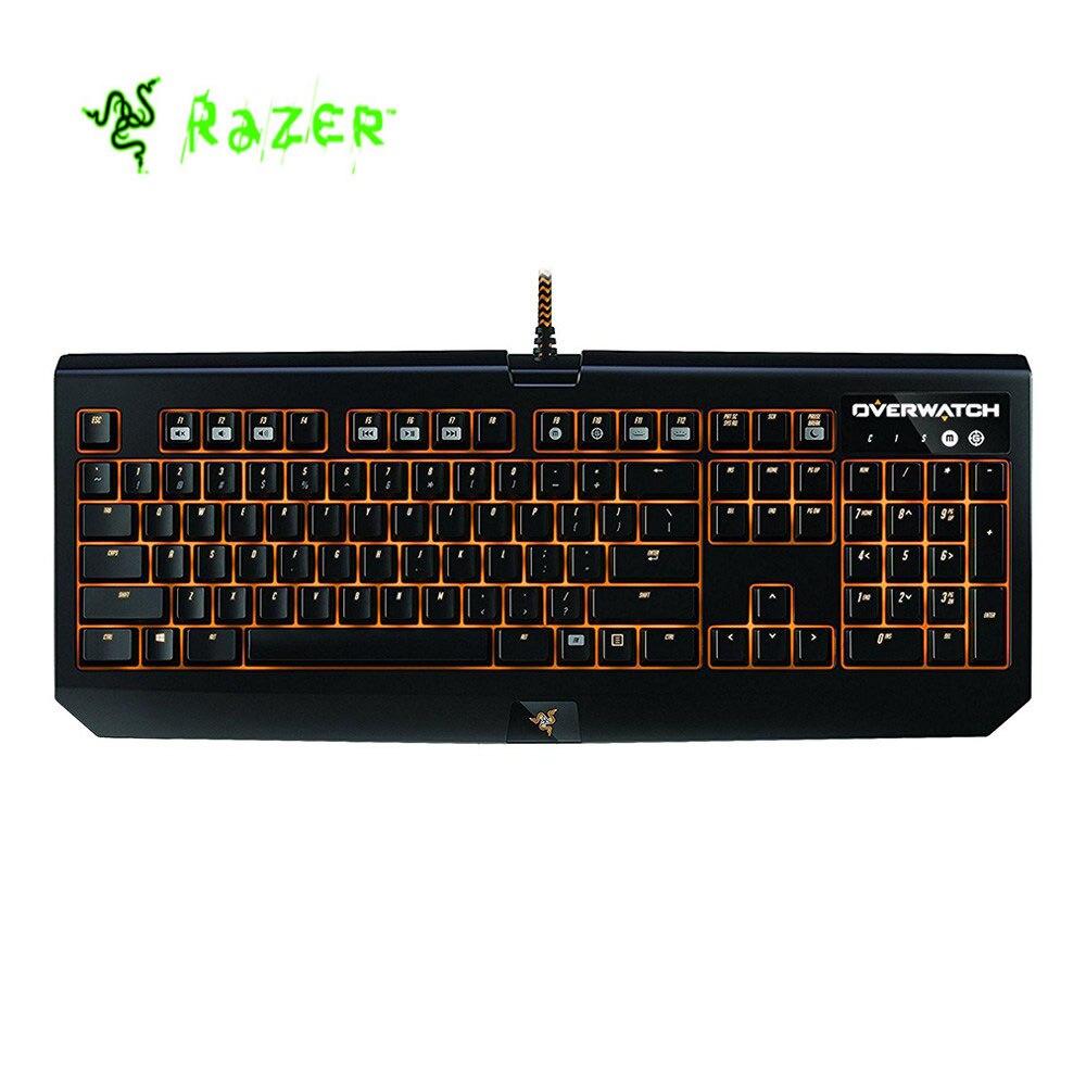 Razer Overwatch blackveuve Chroma clavier de jeu mécanique RGB rétro-éclairé entièrement Programmable commutateur vert Razer
