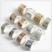 80 Uds./rollo en maceta planta verde cóctel cena cartelera sello casa vintage washi cinta DIY planificador álbum de recortes cinta adhesiva escola