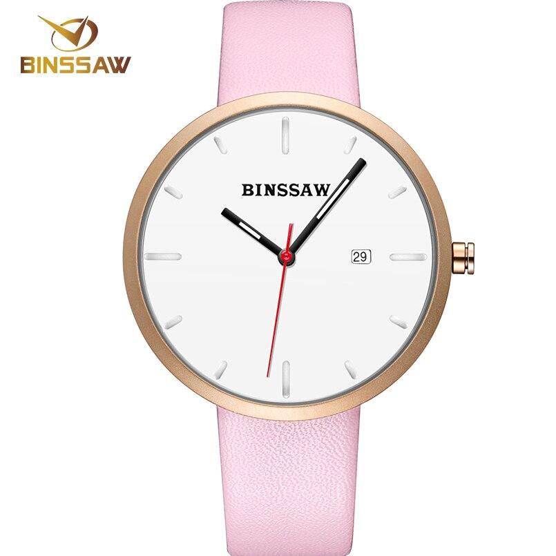 BINSSAW 2017 Luksusowa marka Moda Damska Zegarek kwarcowy kobiety - Męskie zegarki - Zdjęcie 3