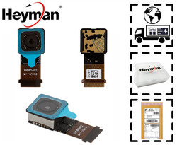 Heyman Camera module For HTC One M7 801e 802T 802W 802D Back Rear Facing Camera Module Flat Cable Replacement Part